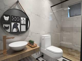 Baños de estilo escandinavo de Studio M Arquitetura Escandinavo
