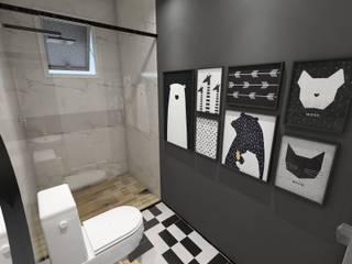 lavabo: Banheiros  por Studio M Arquitetura,Escandinavo