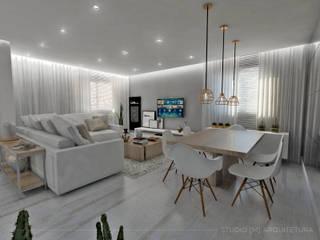Studio M Arquitetura Ruang Makan Gaya Skandinavia