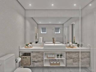 suite casal: Banheiros  por Studio M Arquitetura,Escandinavo