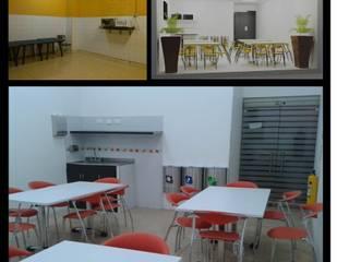 REMODELACION SALA VIP TAXIS CENTRO COMERCIAL SANTAFE:  de estilo industrial por ARQUITECTURA J Y D SAS, Industrial