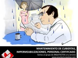MANTENIMIENTO DE CUBIERTAS:  de estilo industrial por ARQUITECTURA J Y D SAS, Industrial