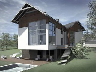 Do m jednorodzinny - single house: styl , w kategorii  zaprojektowany przez PA FORMAT