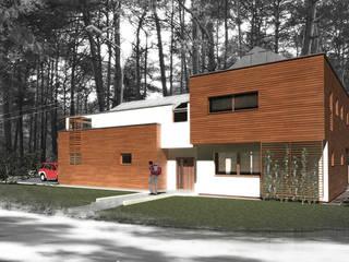 Dom jednorodzinny - single house: styl , w kategorii  zaprojektowany przez PA FORMAT