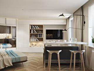 СВЕТЛАНА АГАПОВА ДИЗАЙН ИНТЕРЬЕРА Dormitorios de estilo escandinavo