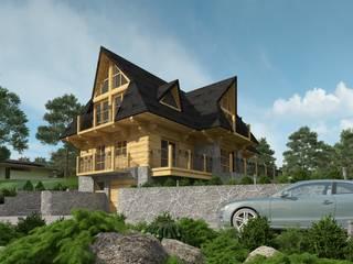 Budynek mieszkalny jednorodzinny: styl wiejskie, w kategorii Domy zaprojektowany przez Project Harmonia Pracownia Architektoniczna