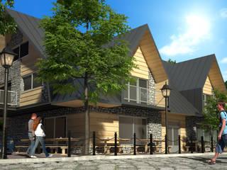Budynek usługowo-handlowy: styl nowoczesne, w kategorii Domy zaprojektowany przez Project Harmonia Pracownia Architektoniczna