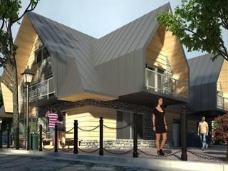Budynek usługowo-handlowy: styl , w kategorii Domy zaprojektowany przez Project Harmonia Pracownia Architektoniczna