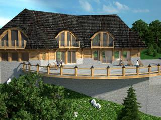 Karczma widokowa: styl , w kategorii Domy zaprojektowany przez Project Harmonia Pracownia Architektoniczna