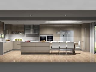Amplitude - Mobiliário lda Cuisine moderne MDF Beige