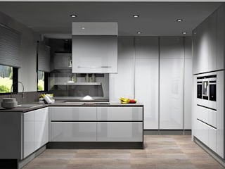 Amplitude - Mobiliário lda Modern kitchen MDF White