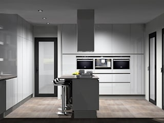 Cocinas de estilo moderno de Amplitude - Mobiliário lda Moderno Tablero DM