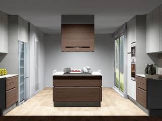 Amplitude - Mobiliário lda Cuisine moderne Bois Effet bois