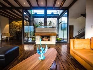 Salones de estilo  de ICAZBALCETA Arquitectura y Diseño