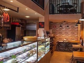 Restaurante em Vitrinni Shopping, Águas Claras, DF Cozinhas rústicas por Arquiteto e Urbanista Ricardo Pereira Macedo Rústico