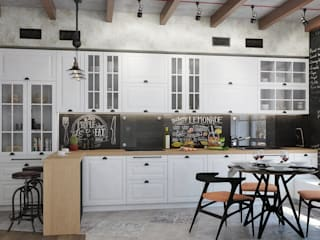 Industrial style kitchen by Студия дизайна Interior Design IDEAS Industrial