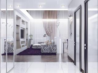 Pasillos, halls y escaleras minimalistas de Ольга Рыбалка Minimalista