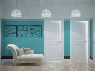 Corredores, halls e escadas mediterrânicos por Студия интерьерного дизайна happy.design Mediterrânico