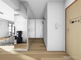 Hol / przdpokój / tapicerowane siedzisko: styl , w kategorii Korytarz, przedpokój zaprojektowany przez black design