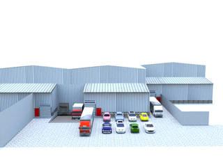 Garajes de estilo  por Crearquitech S.A.S