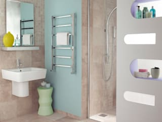 Radiators for small bathrooms Salle de bain moderne par Feature Radiators Moderne