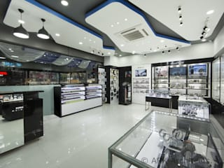 Casio Showroom, vizag:  Commercial Spaces by ARK Architects & Interior Designers