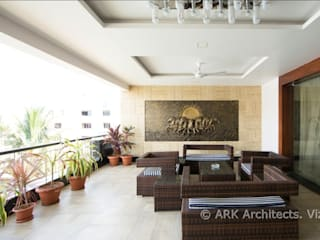 Hirawats House Modern balcony, veranda & terrace by ARK Architects & Interior Designers Modern