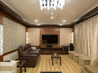 Hirawats House Modern media room by ARK Architects & Interior Designers Modern