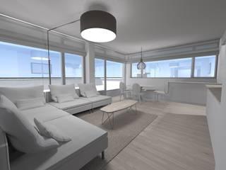 L&D Intérieur Salas de estar minimalistas Madeira