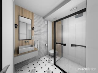 Industrial style bathroom by black design Industrial