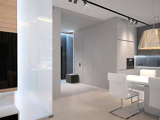 Квартира в ЖК Кристалл Dmitriy Khanin Коридор, прихожая и лестница в стиле минимализм
