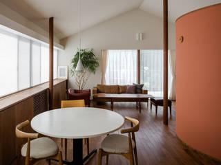 日野の家 Kawakatsu Design モダンデザインの リビング