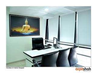 Manish Desai Office@Shivalik:   by ARPIT SHAH PROJECTS OPC PVT LTD.