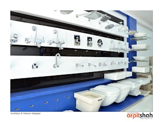 Ved Ceramics @ Sola,Agraval Mall:   by ARPIT SHAH PROJECTS OPC PVT LTD.