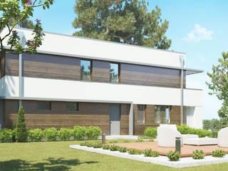 Nowoczesny projekt domu uA16: styl , w kategorii  zaprojektowany przez uArchitekta