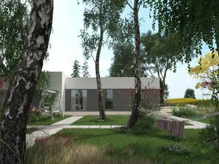 Parterowy projekt domu uA7: styl , w kategorii  zaprojektowany przez uArchitekta