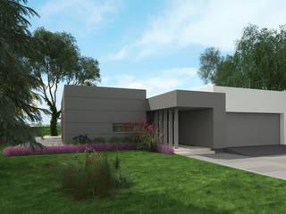Parterowy projekt domu uA7 od uArchitekta Nowoczesny