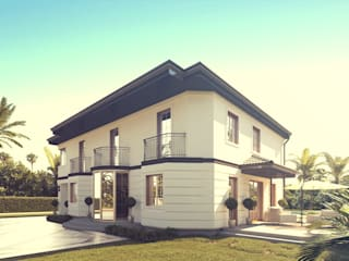 Odświeżona klasyka projekt domu uA20: styl , w kategorii  zaprojektowany przez uArchitekta