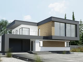 Nowoczesny projekt domu uA10: styl , w kategorii  zaprojektowany przez uArchitekta
