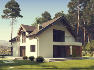 Nowoczesny projekt domu uA21: styl , w kategorii  zaprojektowany przez uArchitekta