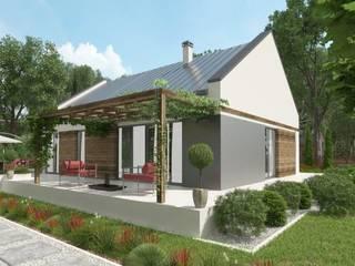 Tani projekt domu uA11: styl , w kategorii  zaprojektowany przez uArchitekta