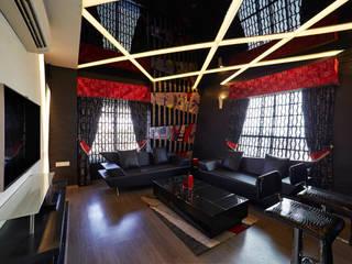 SADHWANI BUNGALOW: modern Media room by Square 9 Designs