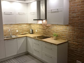 ITA Poland s.c. Rustic style kitchen Bricks