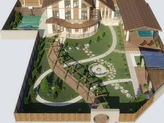 Проект ландшафтного дизайна на Павло-Очаковской косе Сад в средиземноморском стиле от studio forma Средиземноморский