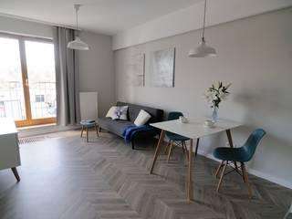 Phòng khách phong cách Bắc Âu bởi ARTEMA PRACOWANIA ARCHITEKTURY WNĘTRZ Bắc Âu
