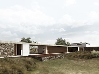 Country style houses by Coletivo de Arquitetos Country