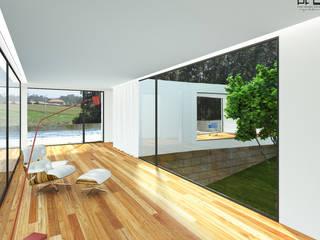 CASA RF_VILA DO CONDE_2011: Corredores e halls de entrada  por PFS-arquitectura