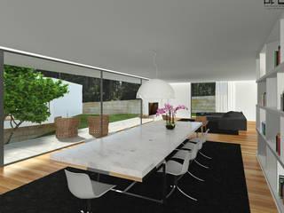 CASA RF_VILA DO CONDE_2011 Salas de jantar minimalistas por PFS-arquitectura Minimalista
