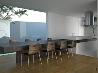 Minimalist dining room by PFS-arquitectura Minimalist
