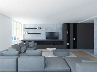 Living room by Studio Associato Casiraghi,